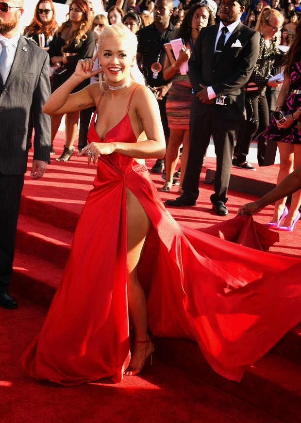 That Was Close Rita Ora Almost Shows Too Much On The Red