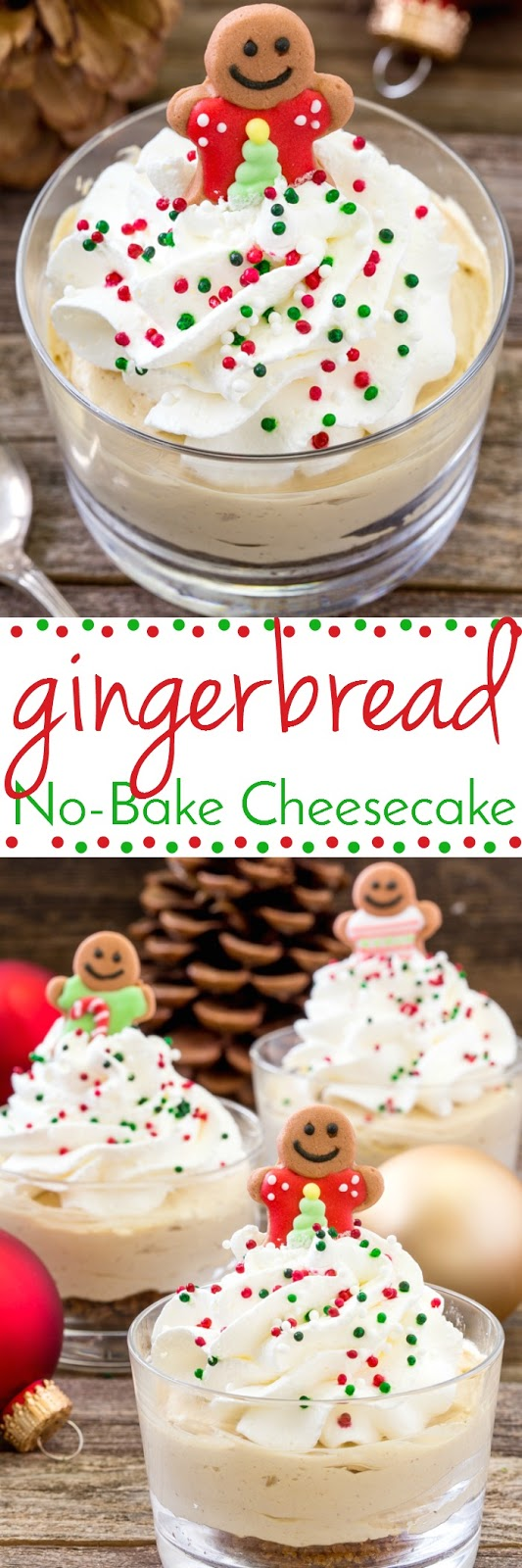 No-Bake Mini Gingerbread Cheesecakes