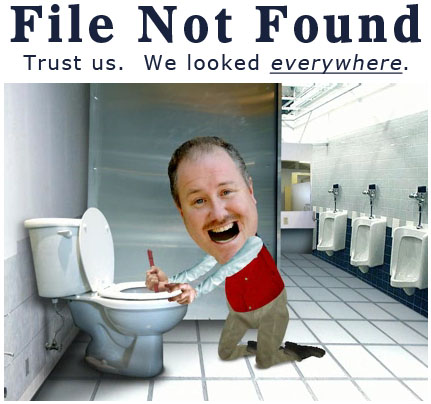file not found trust us we looked everywhere