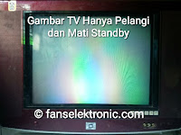 tv hanya gambar pelangi