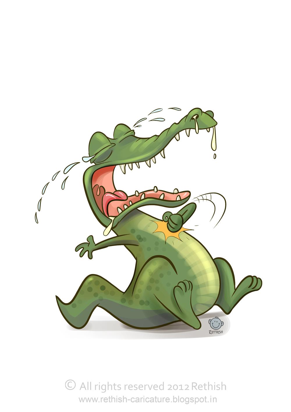Rethish Art Crying Crocodile