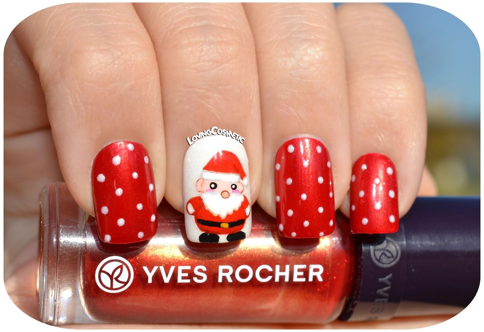 Nail Art - Santa Claus ~ LovingCosmetic