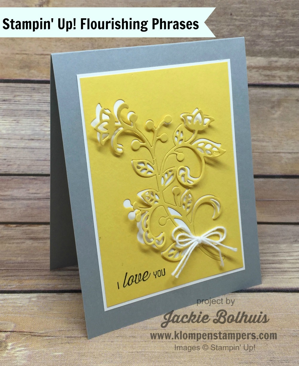 Flourishing Phrases Card Series 5 Klompen Stampers