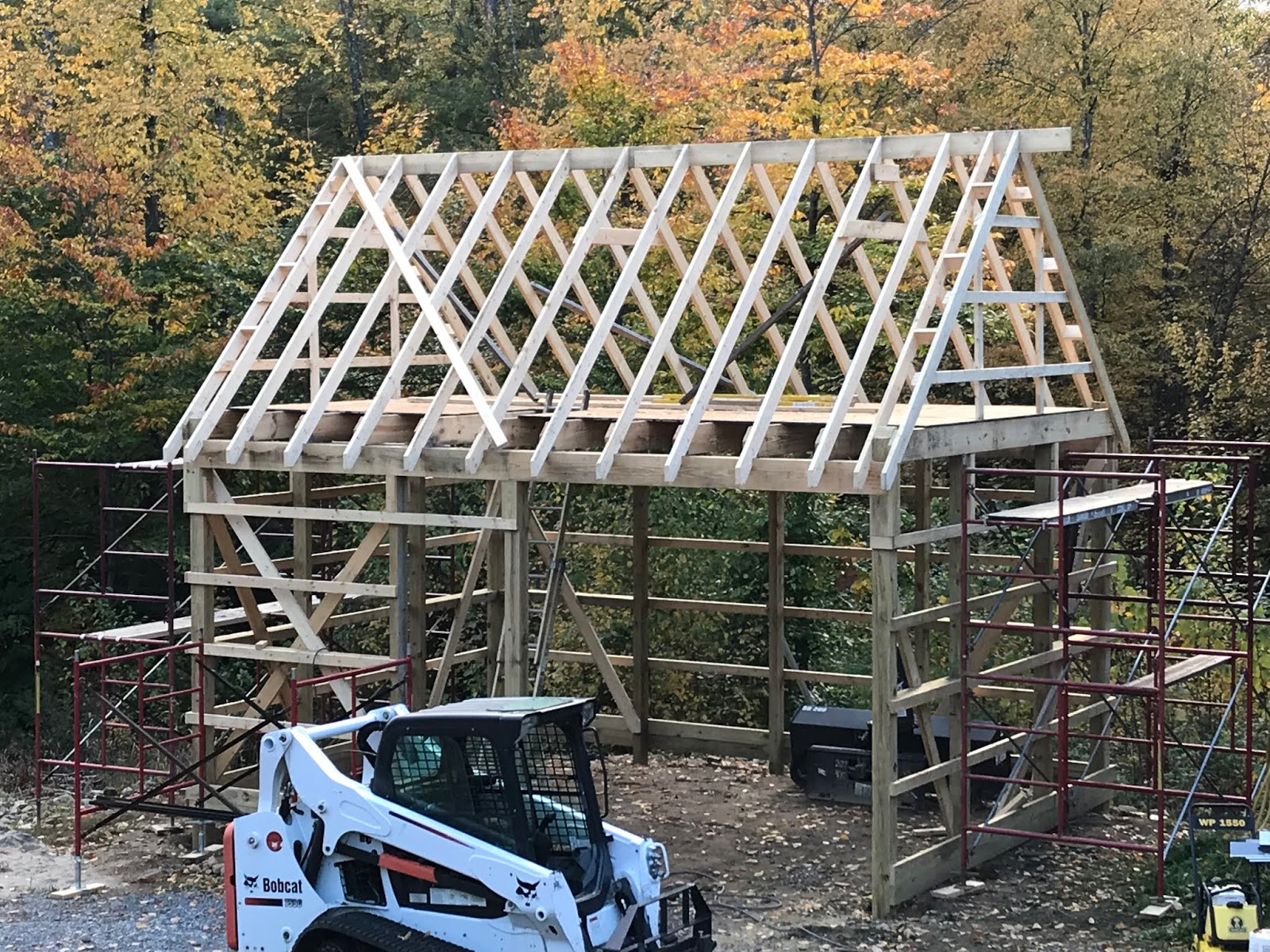hight resolution of one of the big before winter jobs that has been hanging over jim s head is the dormer window and finishing the stairwell roof the people at the roofing