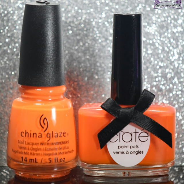 China Glaze Lady & The Vamp VS. Ciaté Hopscotch