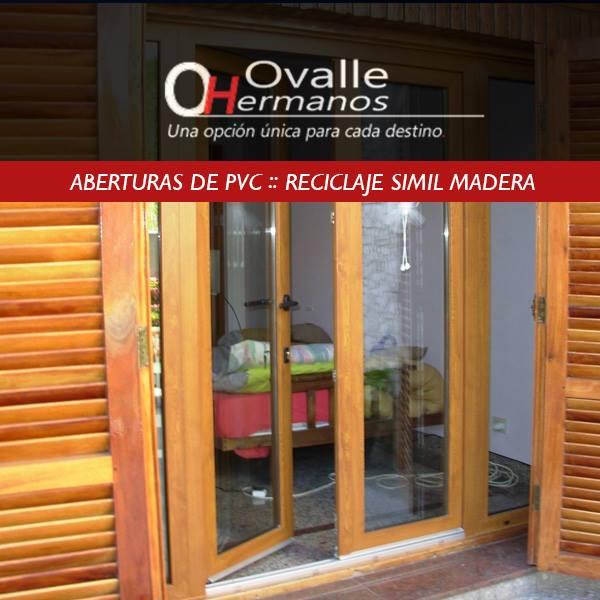 Aberturas de pvc ovalle hnos diciembre 2017 for Aberturas de pvc simil madera precios