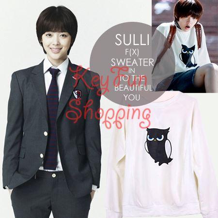 Sweater owl Sulli FX- To the beautiful you ( PO ) - KeyFun ... F(x) Sulli To The Beautiful You