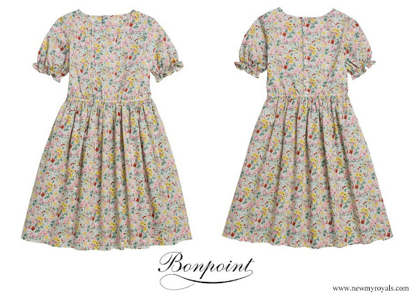Princess Estelle wore Bonpoint Lana Liberty dress green water
