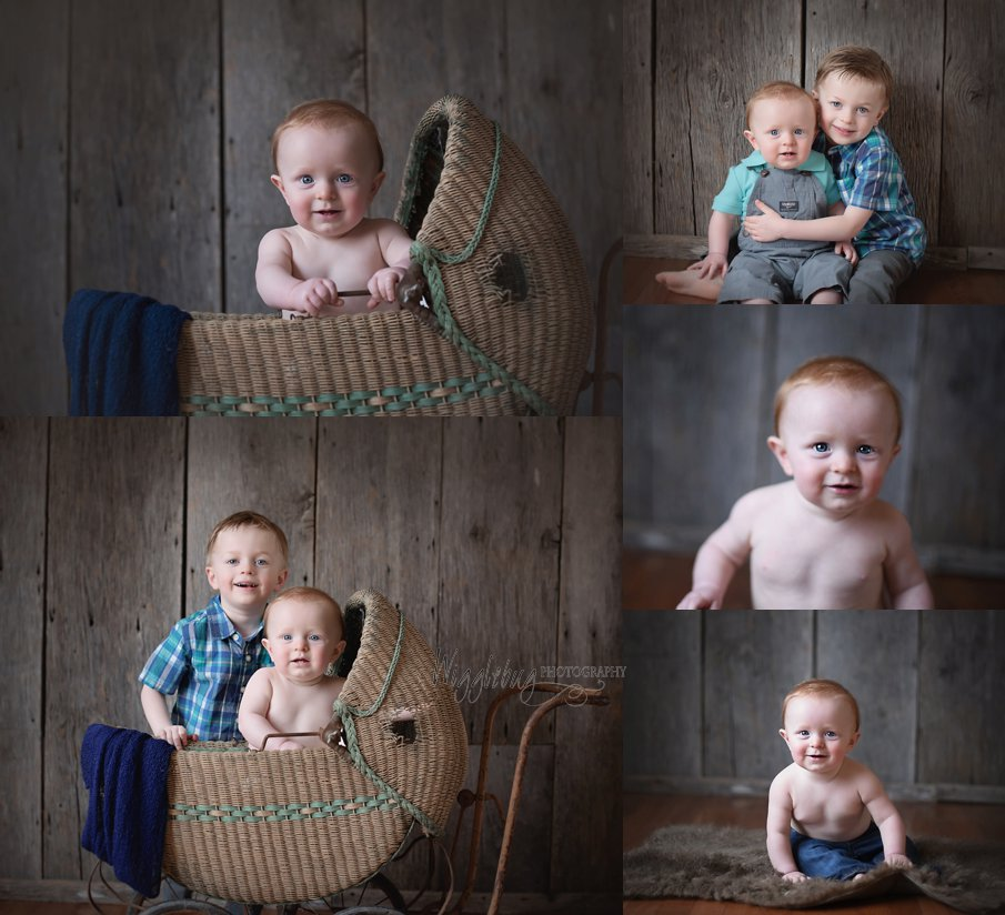 8 Month old Sitter Session Milestone Photos by DeKalb IL Newborn and Child Photographer