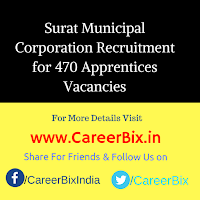 Surat Municipal Corporation Recruitment for 470 Apprentices Vacancies