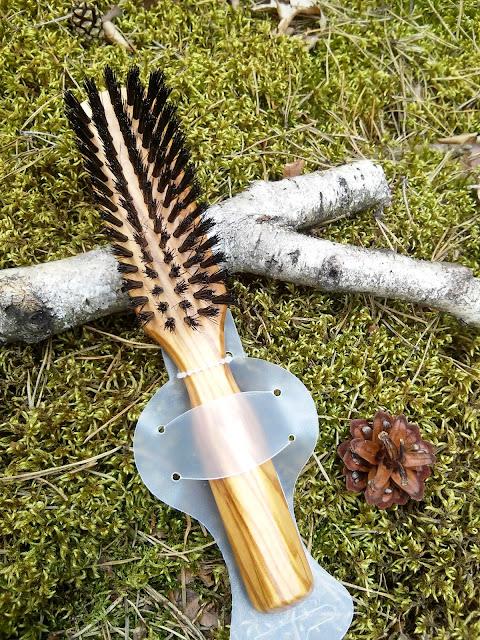 Stylowy brodacz, Ekskluzywna szczotka z włosia dzika do włosów lub brody
