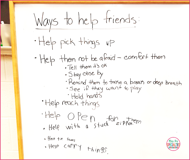 Being able to show other people kindness is an important life skill which is often very difficult for students with disabilities- especially students with autism. Here are some ideas for helping students to understand the concept and put it into action.
