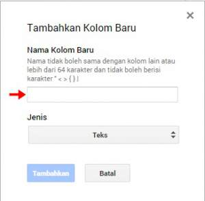 menyisipkan URL