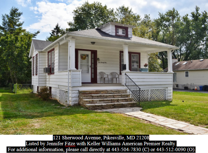 Jennifer Fitze 121 Sherwood Avenue Pikesville Md 21208 Just Sold