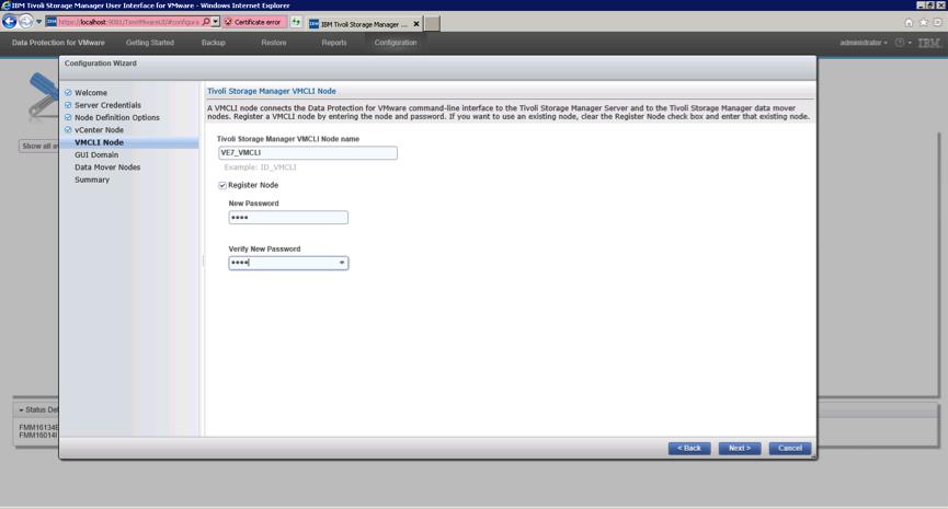 registering VMCLI node