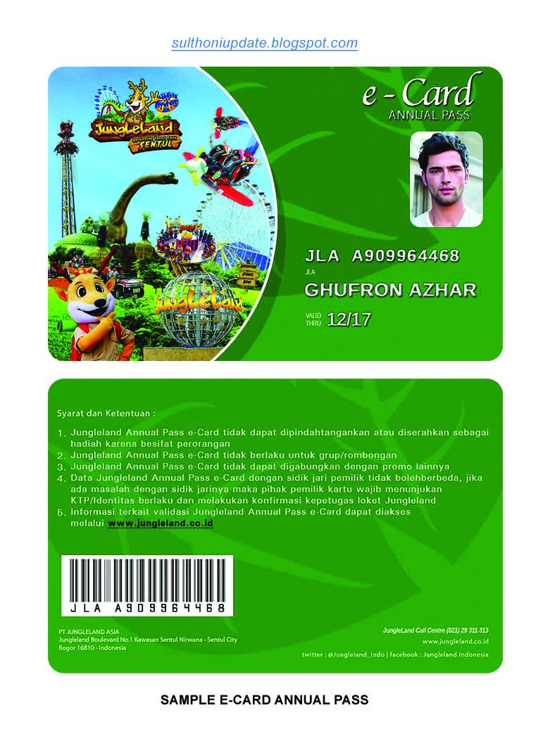 Onics Merchandise Annual Pass Jalan Ke Jungleland Gratiss Tiket Jungle Land Sentul Bogor Dengan Menggunakan E Card Nda Telah Resmi Memiliki Dan Bisa Menikmati 34 Wahana Seru Sepuasnya Di Gratis Selama 1 Tahun