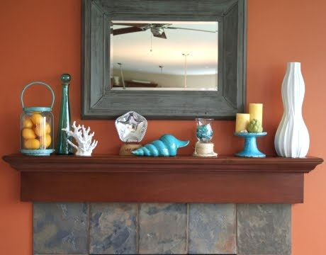 mantel decor contemporary