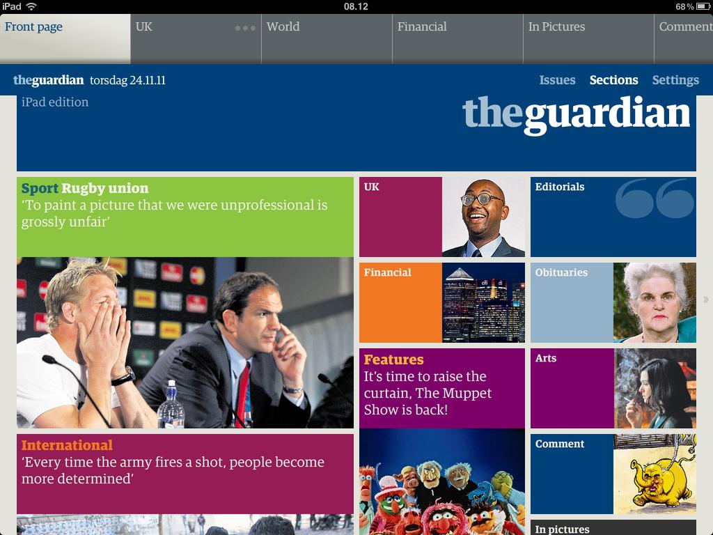 Resultado de imagem para The Guardian app