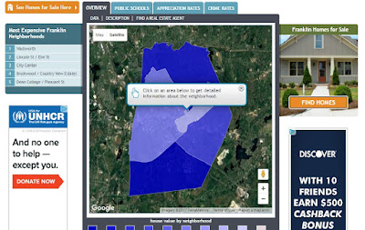 NeighborhoodScout screen grab