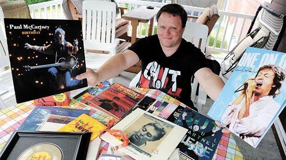 Sébastien Tremblay, un fan québecois de Paul McCartney.