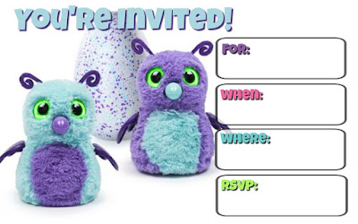 free Hatchimals invitations
