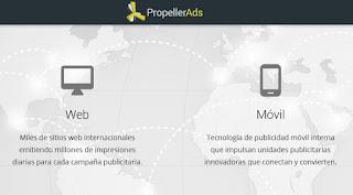 Propeller Ads - Publicidad web y móvil