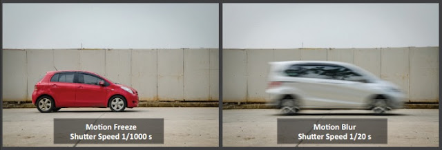 Efek pada hasil jepretan kamera apabila dalam melakukan pengaturan shutter speed tidak sesuai yaitu motion blur