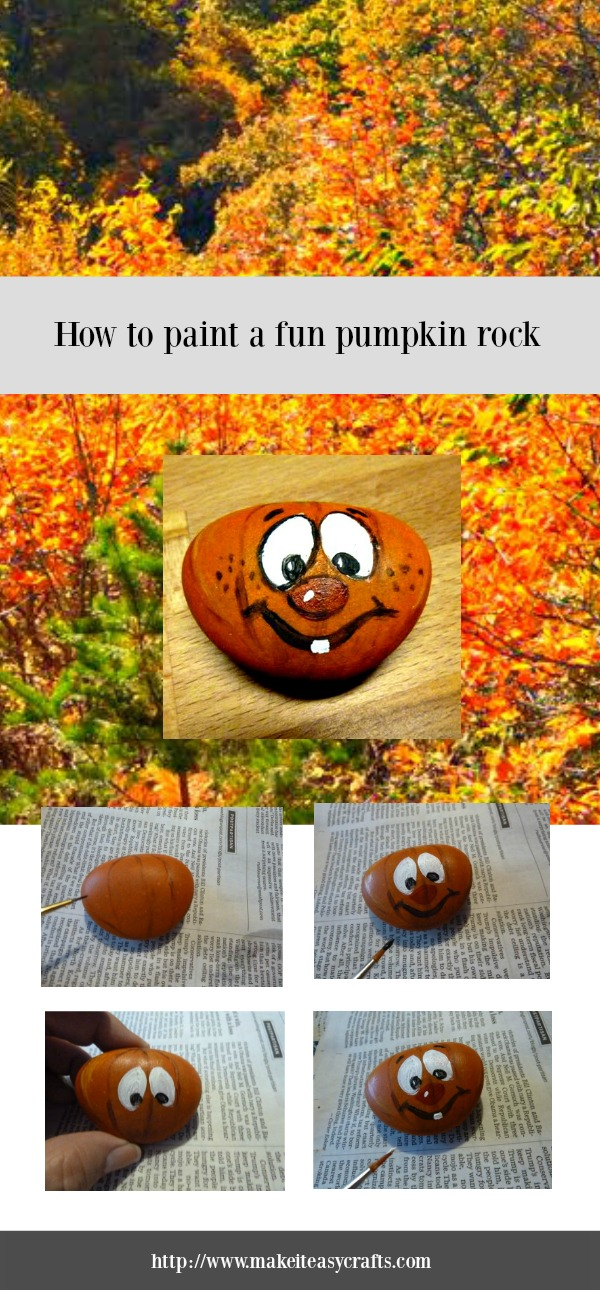 Are You Ready For Another Rock Painting Lesson Lets Paint A Fun Pumpkin Can Follow The Tutorial To Make It Exactly Like Mine Or Change
