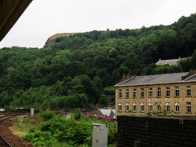 View from Halifax Rail Station showing Halifax Flour Society building and entrance to tunnel.
