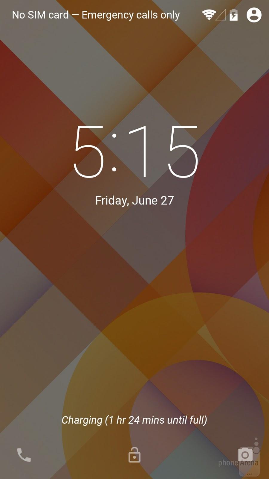 Lockscreen di Android L Dibekali Indikator Waktu Pengisian Baterai