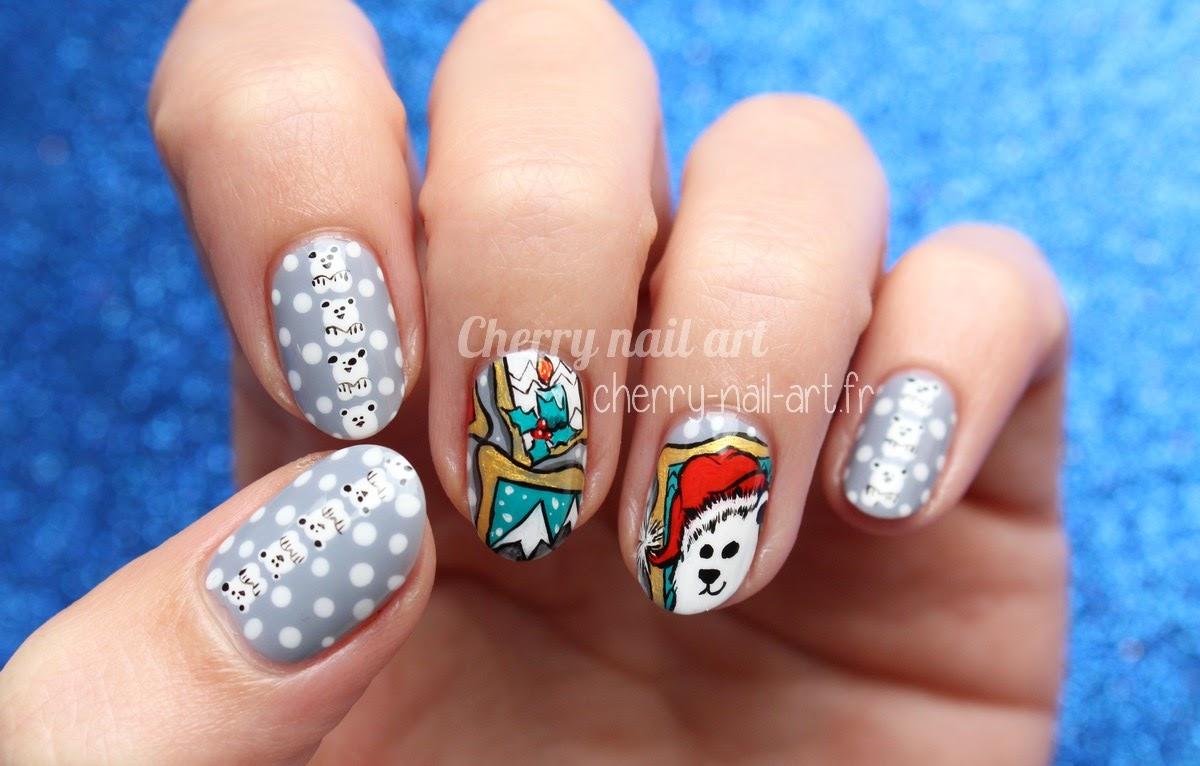 nail-art-noel-ours-neige