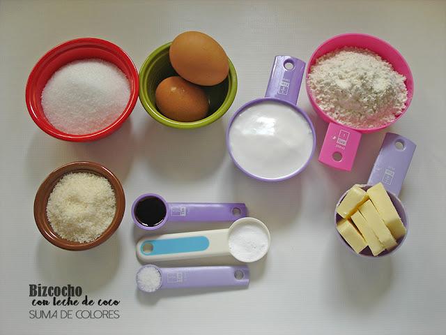 Bizcocho-leche-coco-ingredientes