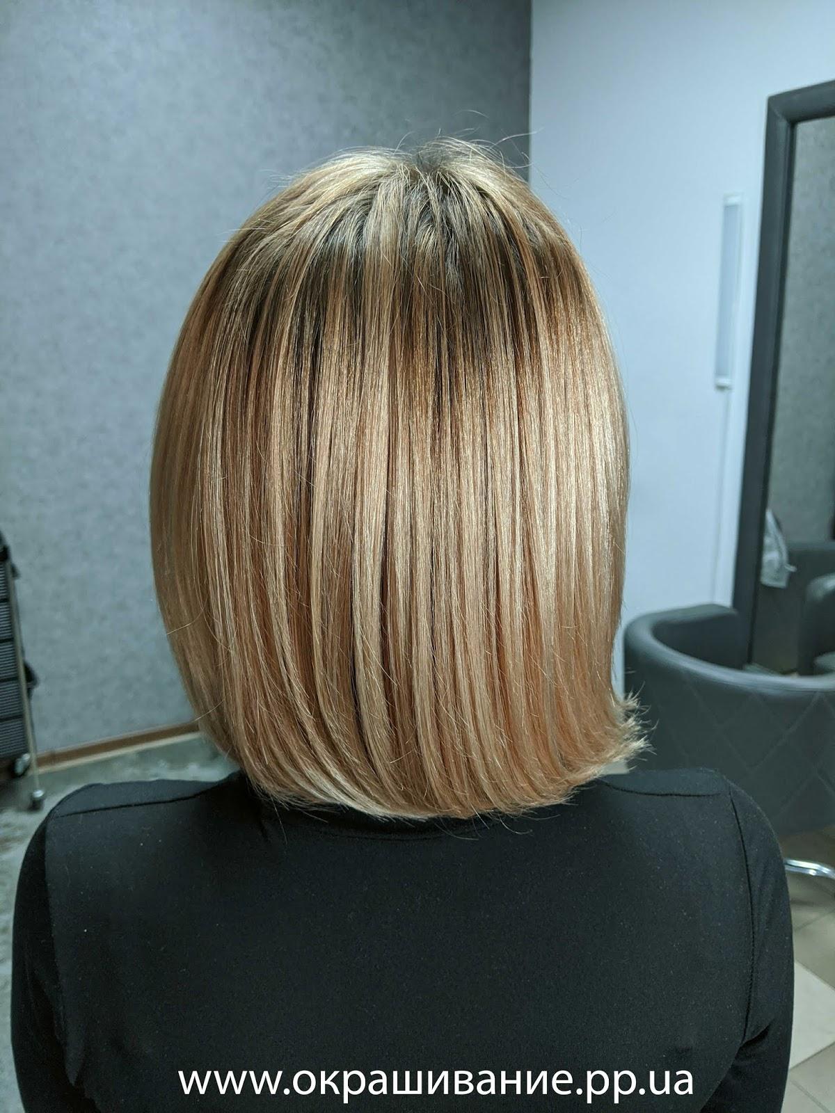 Красивая покраска коротких волос