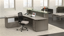 Coastal Gray Office Furniture