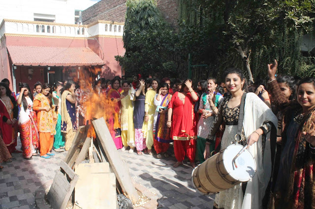 Lohri festival celebrated at Khajani Woman's Vocational Institute