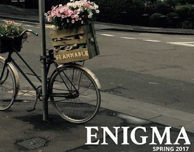 Cover of Enigma Spring 2017: Student photo of a bicycle