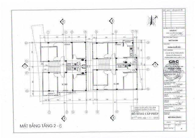 thiết kế tầng 2-6 chung cư minh đại lộc 4