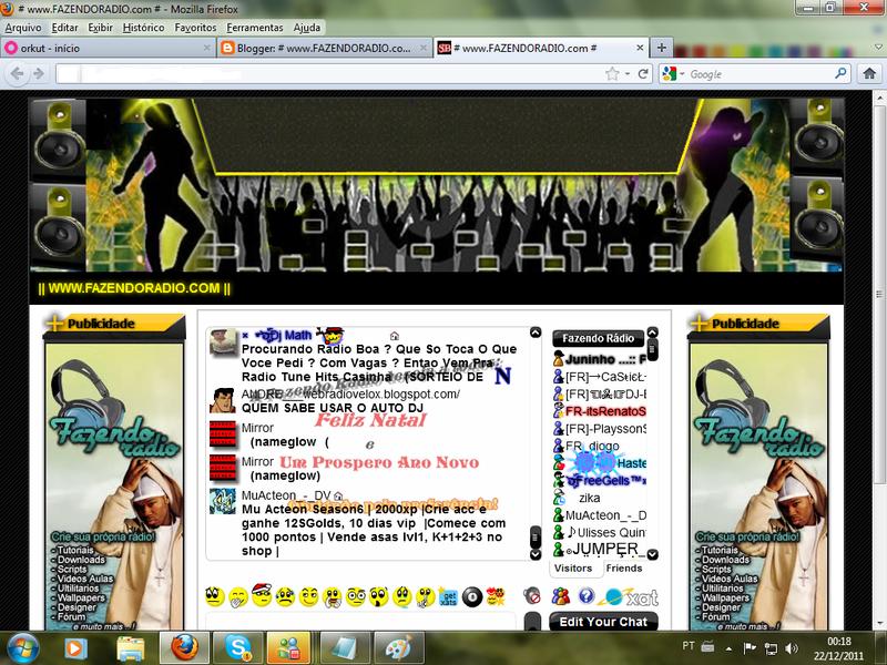 Demonstração do template Music para web rádio.
