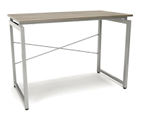 gray home office desk
