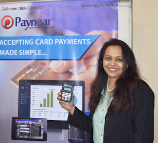 "Paynear Solutions, Ms.Priti Shah, CEO of Paynear Solutions (""Paynear ONE"" a payment solution that transforms merchant's Smartphone/Tablet/PC to a card payment acceptance device)"