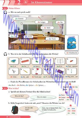 9. Sınıf Almanca A1.1 Ders Kitabı Cevapları Sayfa 22