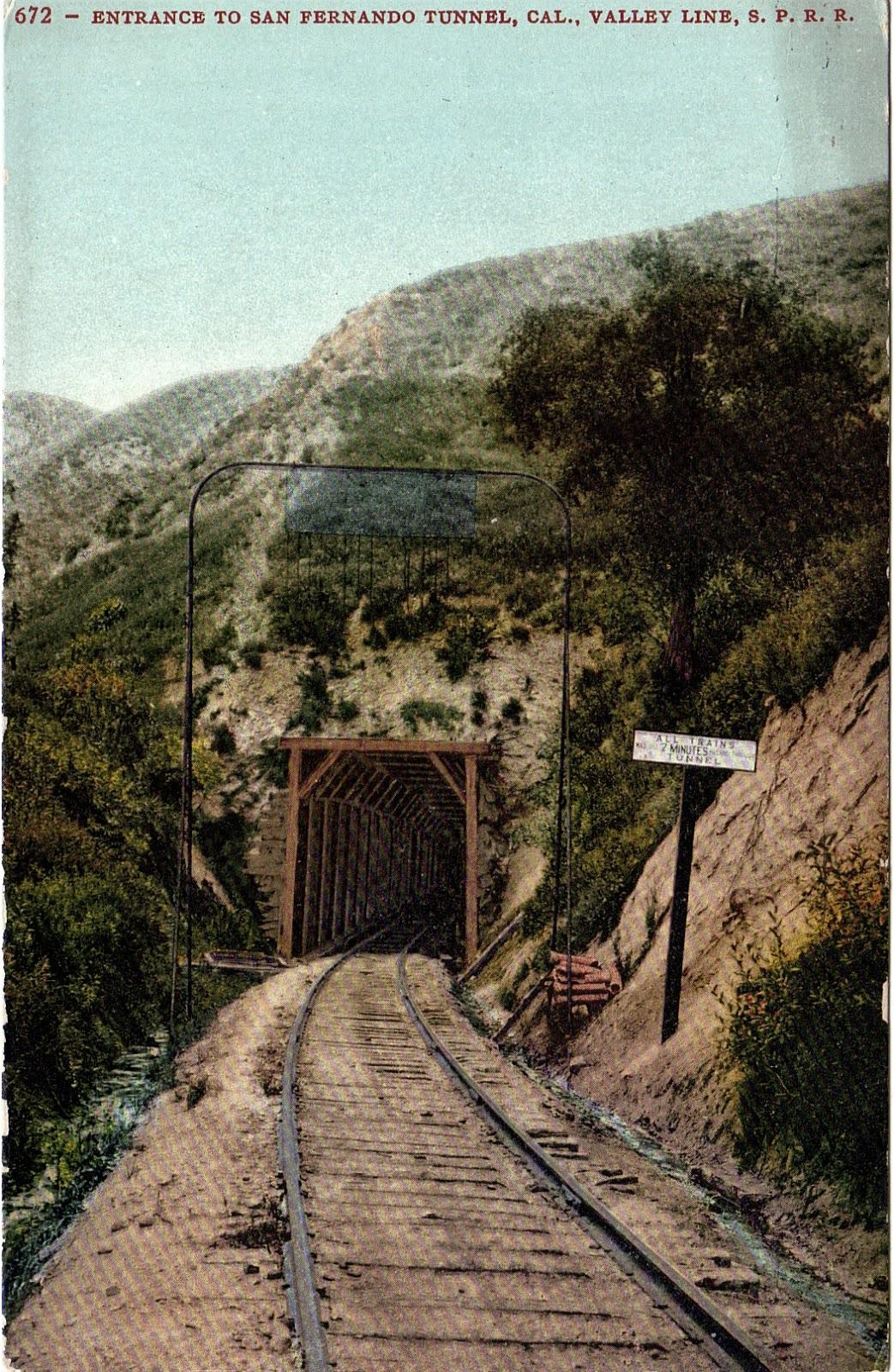 San Fernando Tunnel In Chatsworth Postcard San Fernando