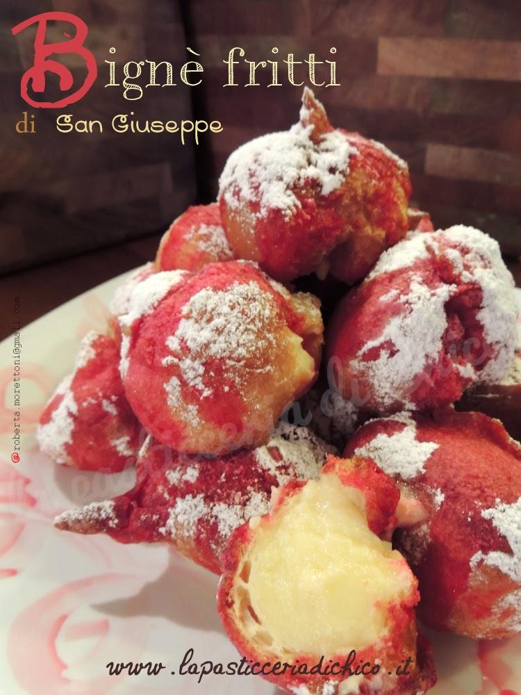 Bignè fritti di San Giuseppe - la pasticceria di chico