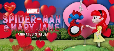 Animated Marvel Spider-Man & Mary Jane Statue by Skottie Young x Gentle Giant