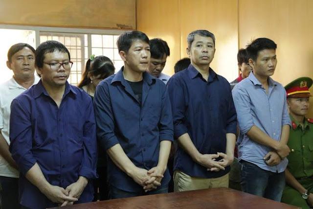 Các bị cáo Nguyễn Văn Thới, Nguyễn Cảnh Chân, Trần Quốc Thái