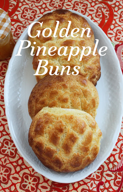 Food Lust People Love: A bakery staple in Chinatown's worldwide, golden pineapple buns are a real treat. The soft sweet bread features a topping that bakes up crisp and light. As an added bonus, some contain sweet fillings, like these made with my easy pineapple jam.
