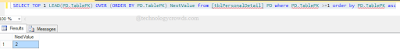 SQL NEXT RECORD
