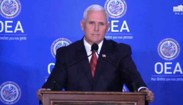 Pence anuncia más sanciones y pide suspender a Venezuela de la OEA