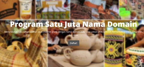 1 Juta Domain Gratis dari Kementerian Komunikasi dan Informatika Republik Indonesia