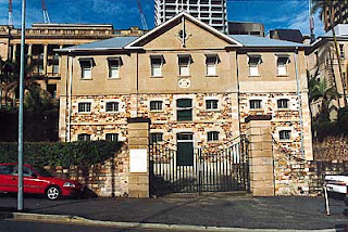 Commissariat Store, William Street, Brisbane, scene of a murder in 1828.